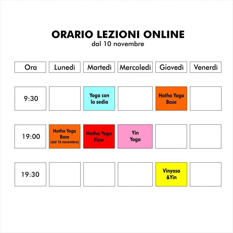ORARIO LEZIONIonline sito